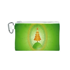 Beautiful Christmas Tree Design Canvas Cosmetic Bag (S)