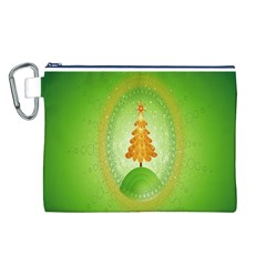 Beautiful Christmas Tree Design Canvas Cosmetic Bag (l)