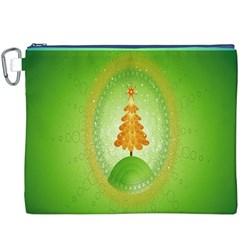 Beautiful Christmas Tree Design Canvas Cosmetic Bag (xxxl)