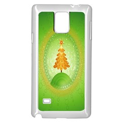 Beautiful Christmas Tree Design Samsung Galaxy Note 4 Case (white)