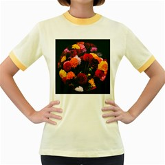Beautifull Flowers Women s Fitted Ringer T Shirts