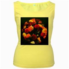 Beautifull Flowers Women s Yellow Tank Top