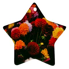 Beautifull Flowers Star Ornament (Two Sides)