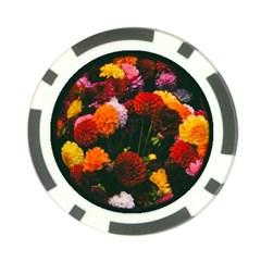Beautifull Flowers Poker Chip Card Guard