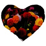 Beautifull Flowers Large 19  Premium Heart Shape Cushions Back