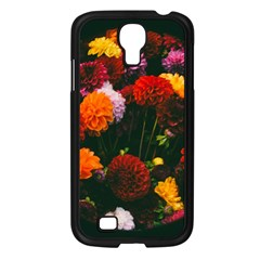 Beautifull Flowers Samsung Galaxy S4 I9500/ I9505 Case (Black)