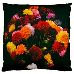 Beautifull Flowers Large Flano Cushion Case (Two Sides)