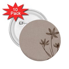 Background Vintage Drawing Sepia 2.25  Buttons (10 pack)
