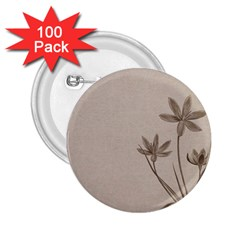 Background Vintage Drawing Sepia 2.25  Buttons (100 pack)
