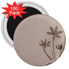 Background Vintage Drawing Sepia 3  Magnets (100 pack)