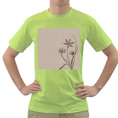 Background Vintage Drawing Sepia Green T-Shirt