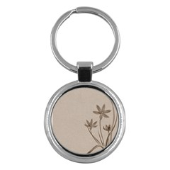 Background Vintage Drawing Sepia Key Chains (Round)
