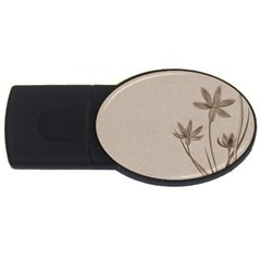 Background Vintage Drawing Sepia USB Flash Drive Oval (2 GB)