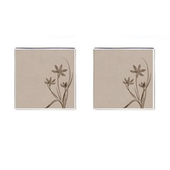Background Vintage Drawing Sepia Cufflinks (square)