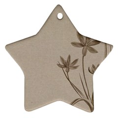 Background Vintage Drawing Sepia Star Ornament (Two Sides)