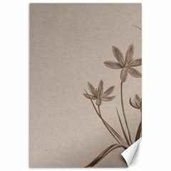 Background Vintage Drawing Sepia Canvas 12  X 18