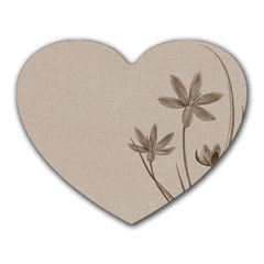 Background Vintage Drawing Sepia Heart Mousepads