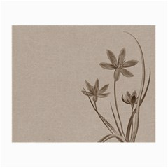 Background Vintage Drawing Sepia Small Glasses Cloth (2-Side)