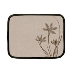 Background Vintage Drawing Sepia Netbook Case (Small)