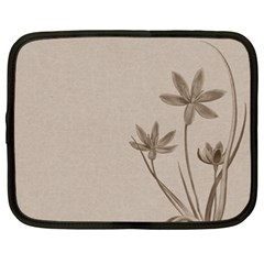 Background Vintage Drawing Sepia Netbook Case (XXL)