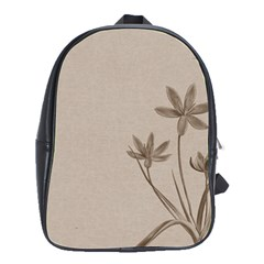 Background Vintage Drawing Sepia School Bags(Large)