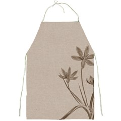 Background Vintage Drawing Sepia Full Print Aprons