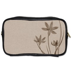 Background Vintage Drawing Sepia Toiletries Bags 2-Side
