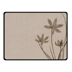 Background Vintage Drawing Sepia Fleece Blanket (small)