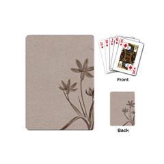 Background Vintage Drawing Sepia Playing Cards (Mini)