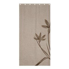 Background Vintage Drawing Sepia Shower Curtain 36  X 72  (stall)