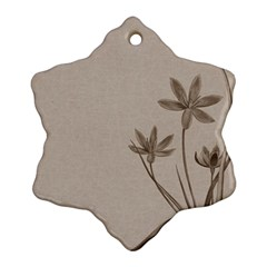 Background Vintage Drawing Sepia Ornament (Snowflake)