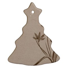 Background Vintage Drawing Sepia Christmas Tree Ornament (Two Sides)