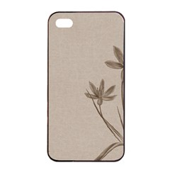 Background Vintage Drawing Sepia Apple iPhone 4/4s Seamless Case (Black)