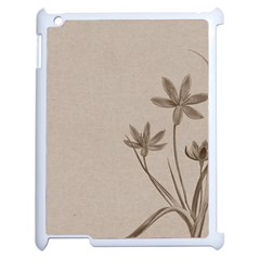 Background Vintage Drawing Sepia Apple iPad 2 Case (White)