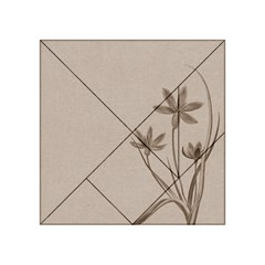 Background Vintage Drawing Sepia Acrylic Tangram Puzzle (4  X 4 )