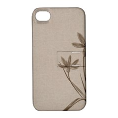 Background Vintage Drawing Sepia Apple Iphone 4/4s Hardshell Case With Stand