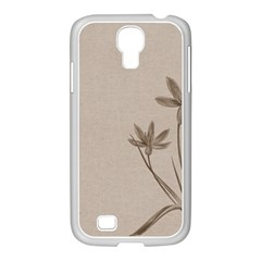 Background Vintage Drawing Sepia Samsung GALAXY S4 I9500/ I9505 Case (White)