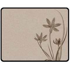 Background Vintage Drawing Sepia Double Sided Fleece Blanket (Medium)