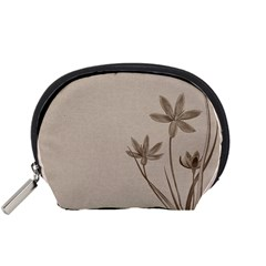 Background Vintage Drawing Sepia Accessory Pouches (Small)
