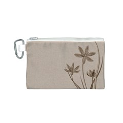 Background Vintage Drawing Sepia Canvas Cosmetic Bag (S)