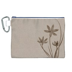 Background Vintage Drawing Sepia Canvas Cosmetic Bag (xl)