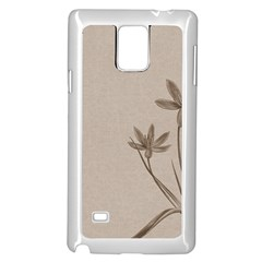 Background Vintage Drawing Sepia Samsung Galaxy Note 4 Case (White)