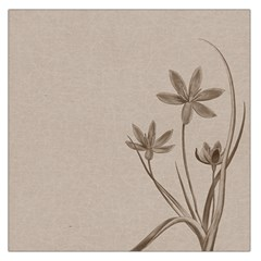 Background Vintage Drawing Sepia Large Satin Scarf (square)