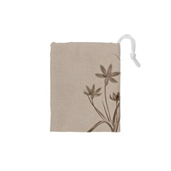 Background Vintage Drawing Sepia Drawstring Pouches (XS)