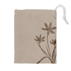 Background Vintage Drawing Sepia Drawstring Pouches (extra Large)