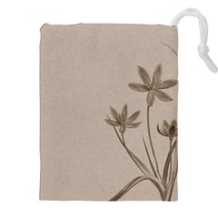 Background Vintage Drawing Sepia Drawstring Pouches (XXL)