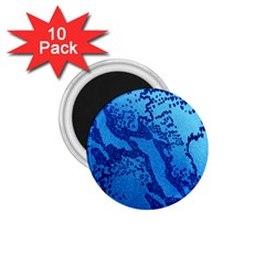 Background Tissu Fleur Bleu 1.75  Magnets (10 pack)