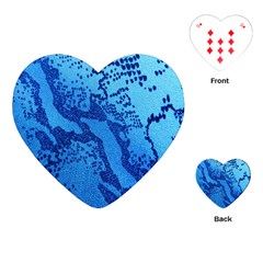 Background Tissu Fleur Bleu Playing Cards (Heart)