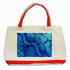 Background Tissu Fleur Bleu Classic Tote Bag (Red)