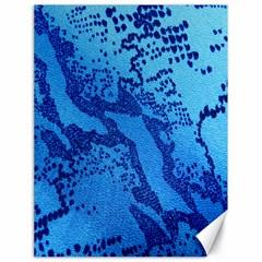 Background Tissu Fleur Bleu Canvas 18  x 24